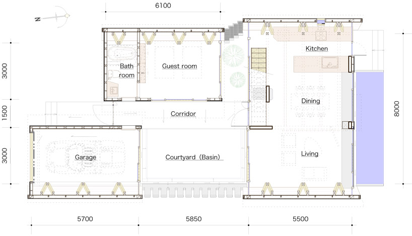 Spectacular floor plan of Amazing Wooden Made Modern Mansion Villa SSK by Takeshi Hirobe Architects Homesthetics