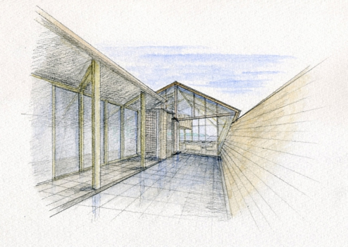 concept skecthes of Amazing Wooden Made Modern Mansion-Villa SSK by Takeshi Hirobe Architects Homesthetics