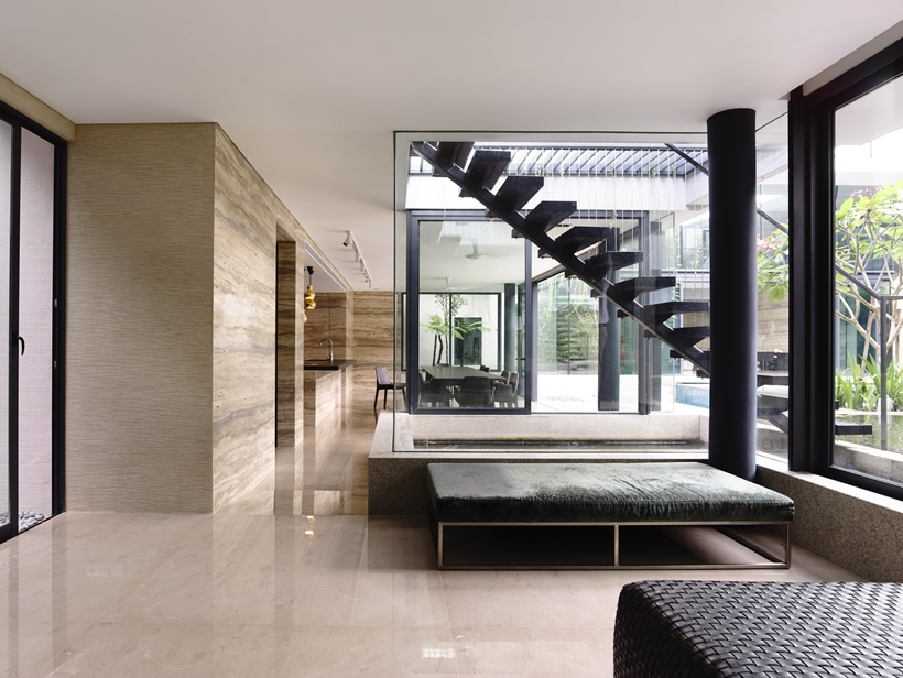 Black And White Interior Design Andrew Road Residence Futuristic Dream Mansion