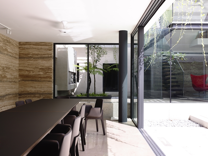 black and white interior design Andrew-Road-Residence-Futuristic-Dream-Mansion-Dream-in-Singapore-by-A-DLAB-modern-mansion