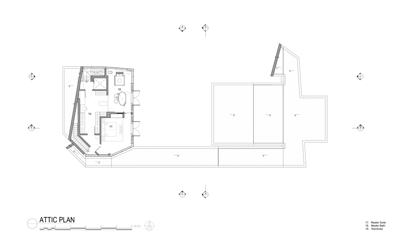 blueprint floor plan groundfloor section plane of the Andrew-Road-Residence-Futuristic-Dream-Mansion-Dream-in-Singapore-by-A-DLAB-modern-mansion