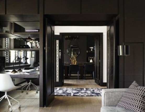 Black Interior With Vibrant Accents Homestheticsnet 1 Homesthetics Inspiring Ideas For Your Home