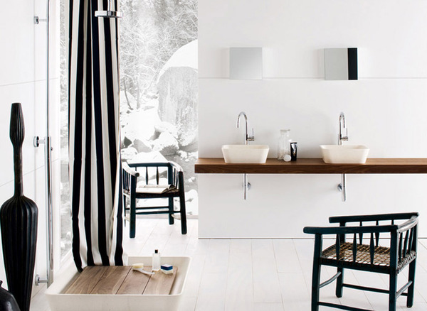 Black and White Modern Bathrooms Inspired by Nature- Neutra`s Collection homesthetics (1)