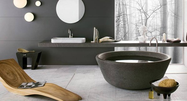 Black And White Black And White Modern Bathrooms Inspired By Nature   Neutra`s Collection