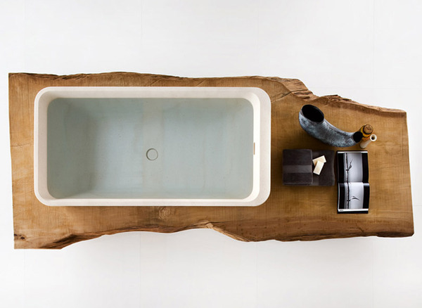 sink carved in wood Black and White Modern Bathrooms Inspired by Nature- Neutra`s Collection homesthetics (1)