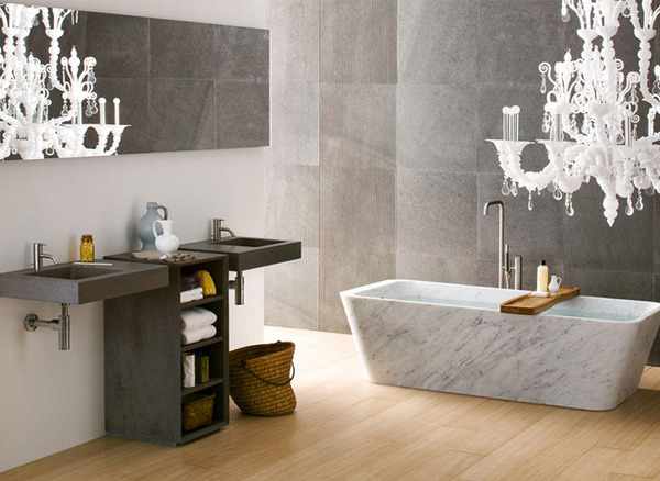marble Black and White Modern Bathrooms Inspired by Nature- Neutra`s Collection homesthetics (1)
