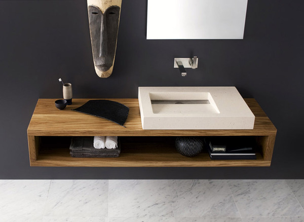 flat sink Black and White Modern Bathrooms Inspired by Nature- Neutra`s Collection homesthetics (1)