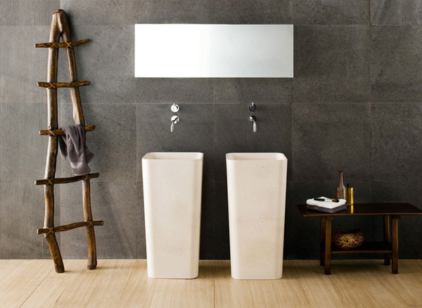 white and black Black and White Modern Bathrooms Inspired by Nature- Neutra`s Collection homesthetics (1)
