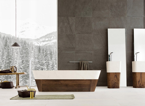 warmth Black and White Modern Bathrooms Inspired by Nature- Neutra`s Collection homesthetics (1)