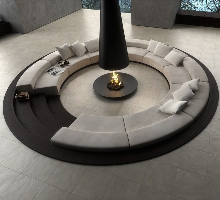 the perfect Centered Conversation Social Pit -Sunken Sitting Areas to Fit Your Modern Mansion