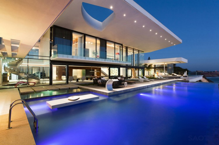 Cliff View Dream Home Villa Sow In Dakar By SAOTA Homesthetics 5 Pool Garden