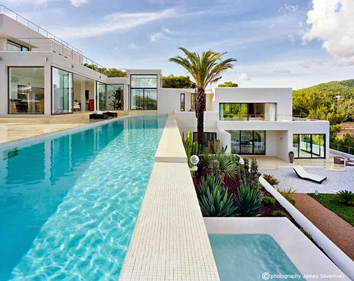 multiple terraces and swimming pools Cliff View Modern Ibiza Dream Home Envisioned by Jaime Serra in Spain
