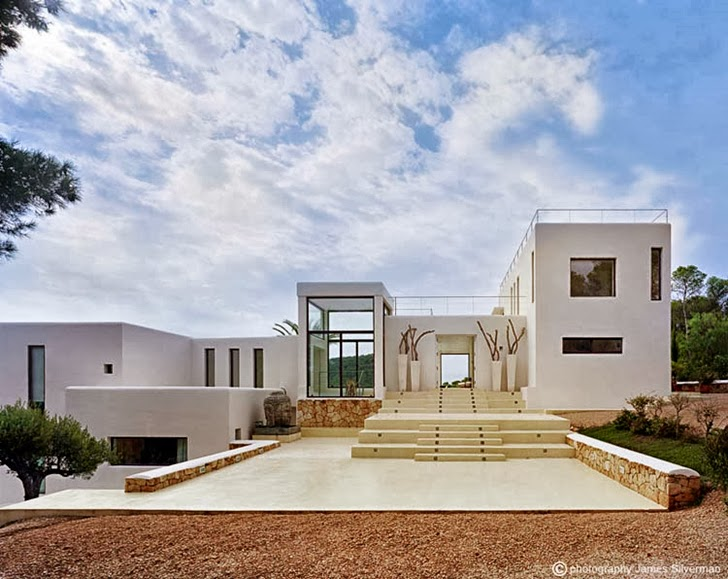 amazing front facade Cliff View Modern Ibiza Dream Home Envisioned by Jaime Serra in Spain