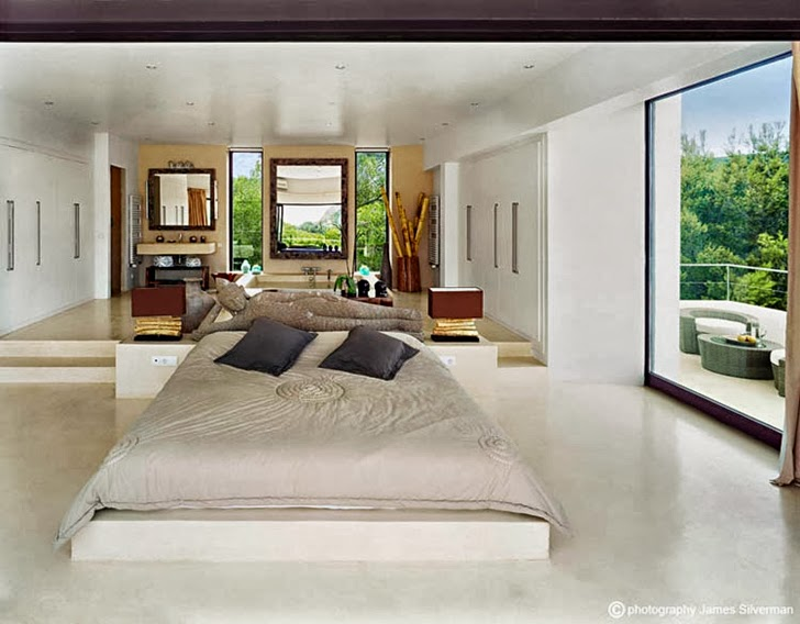 bedroom interior design Cliff View Modern Ibiza Dream Home Envisioned by Jaime Serra in Spain