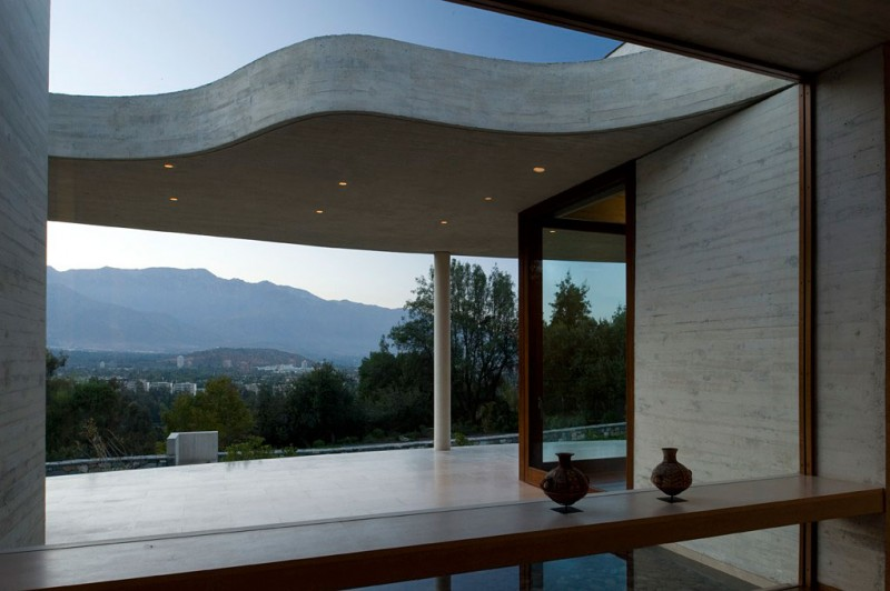 Cliff View Modern Mansion Lo Curro House In Chile By