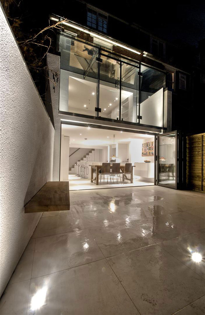 clifton view mansion gl extension in england by ar design studio at night