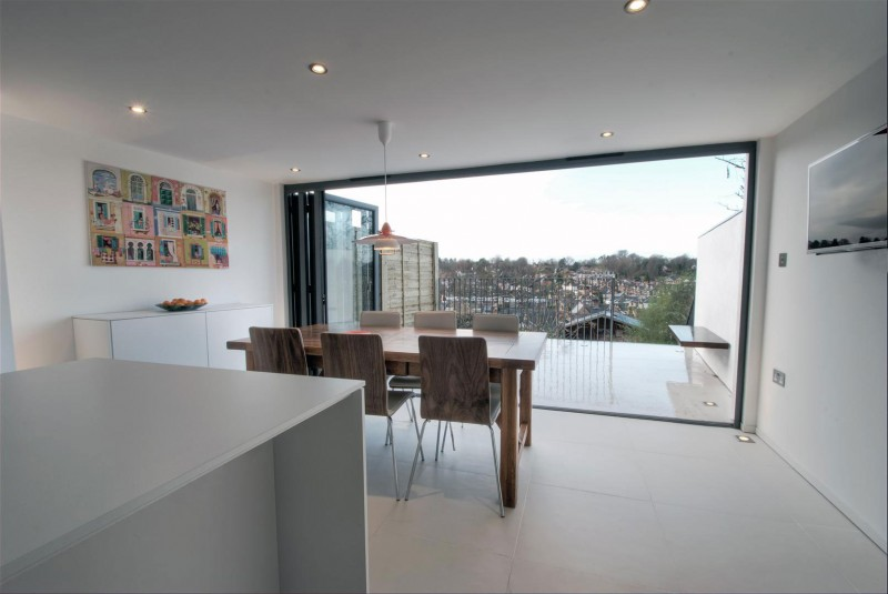 clifton view in the Clifton View Mansion Glass Extension in England by AR Design Studio