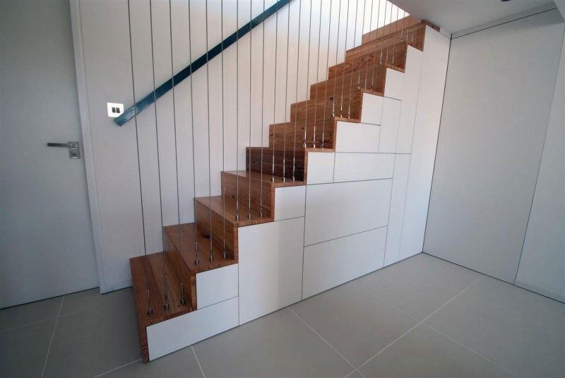 sculptural creative staircase Clifton View Mansion Glass Extension in England by AR Design Studio