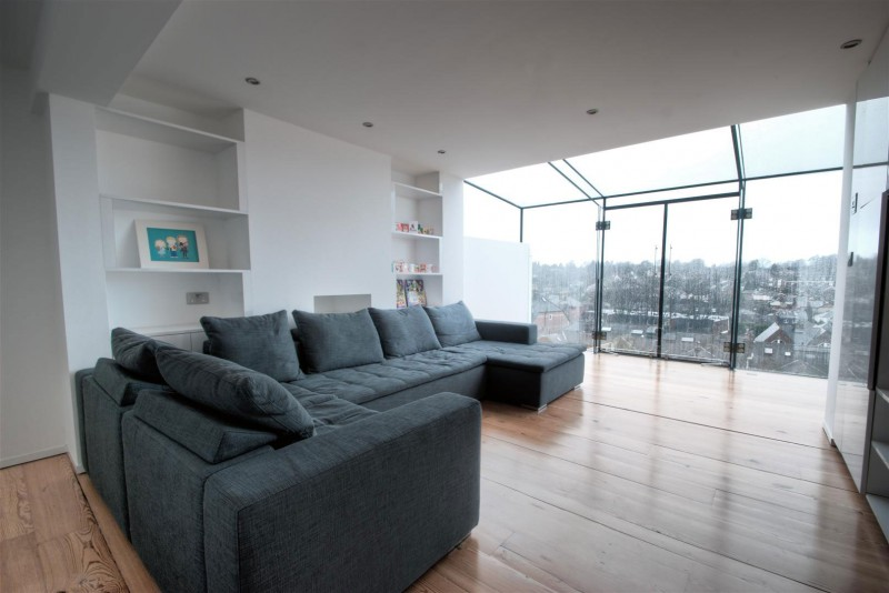 amazing view over Clifton View Mansion Glass Extension in England by AR Design Studio