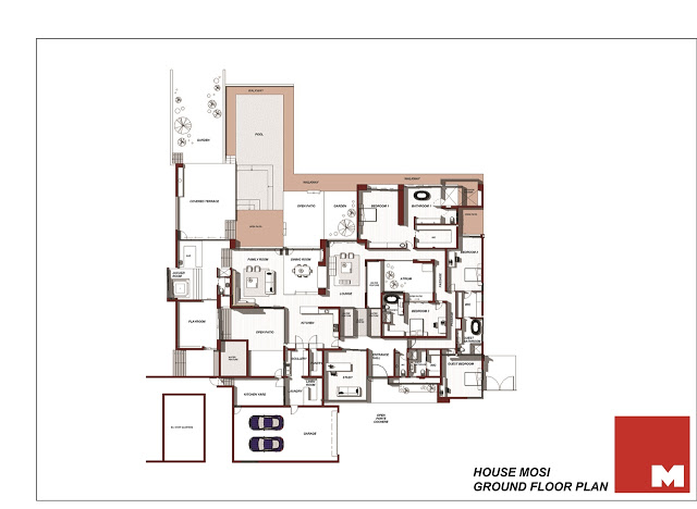 blueprint floor plan Dream Home Close to Achieving Perfection- House Mosi by  Nico van der Meulen Architects