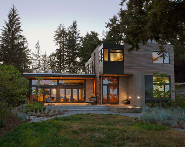 Ellice Residence Cliff-view Modern Mansion in Bainbridge Island contemporary interior design