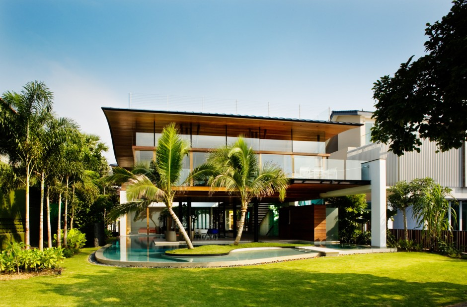 Exotic Modern Mansion in Singapore-The Fish House by Guz Architects Homesthetics