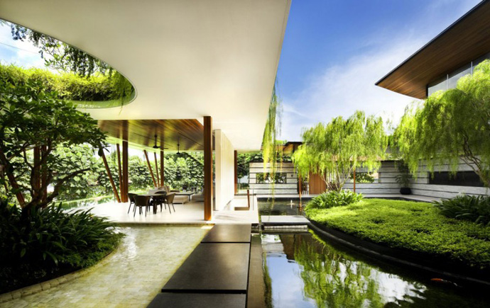 Extraordinary Luxurious Modern Mansion Embedded in Vegetation- The Willow House by Guz Architects homesthetics dream home (1)