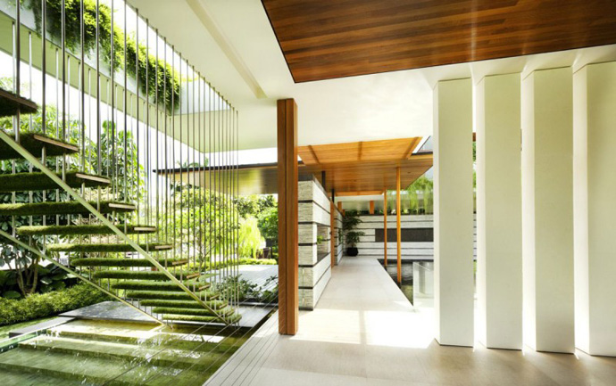 backyard landscaping Extraordinary Luxurious Modern Mansion Embedded in Vegetation- The Willow House by Guz Architects homesthetics dream home (1)