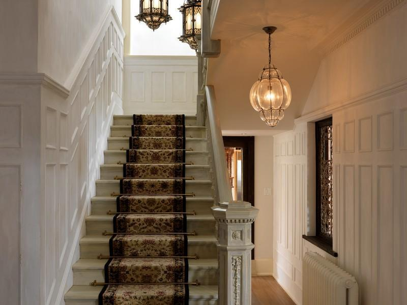 staircase in Extravagant Luxurious Waterfront Mansion with Serene Surroundings