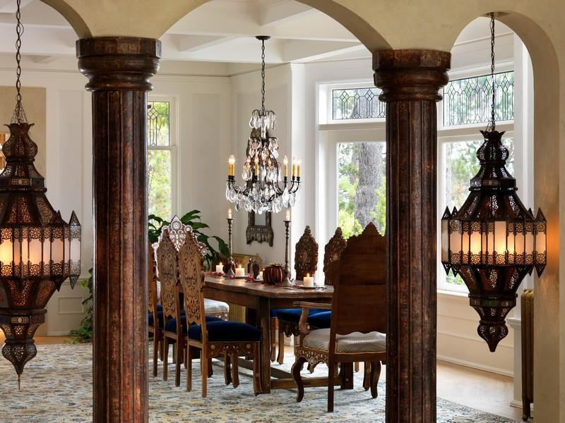 dinning area Extravagant Luxurious Waterfront Mansion with Serene Surroundings