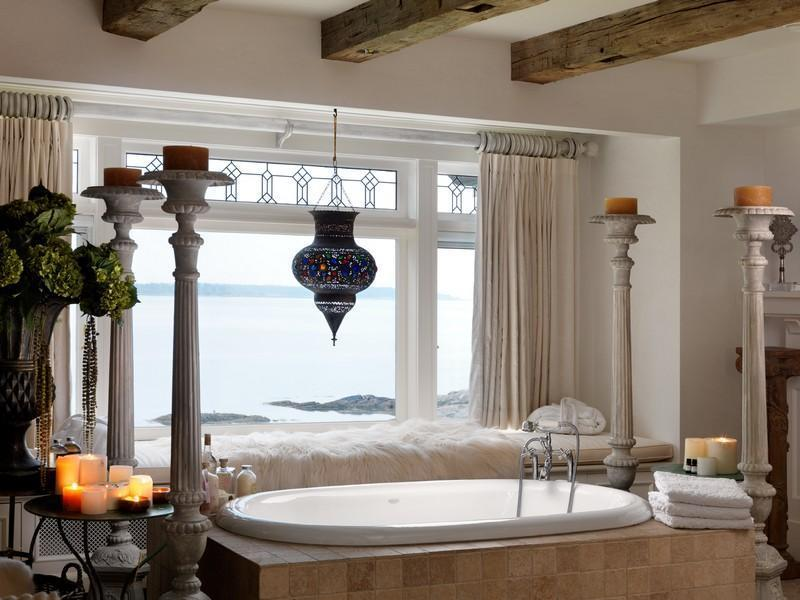 bathroom interior design with a great view Extravagant Luxurious Waterfront Mansion with Serene Surroundings