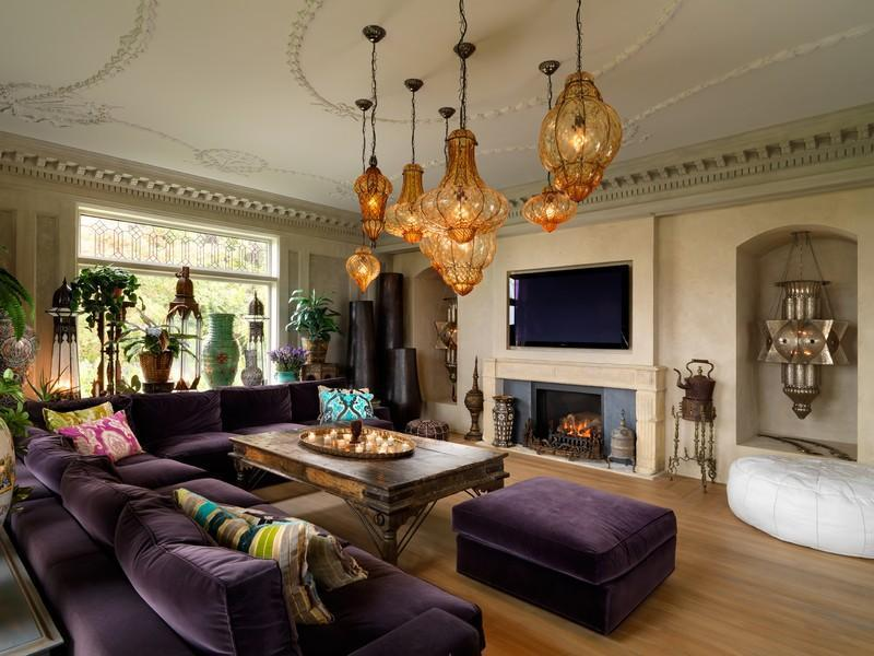 living room interior design Extravagant Luxurious Waterfront Mansion with Serene Surroundings