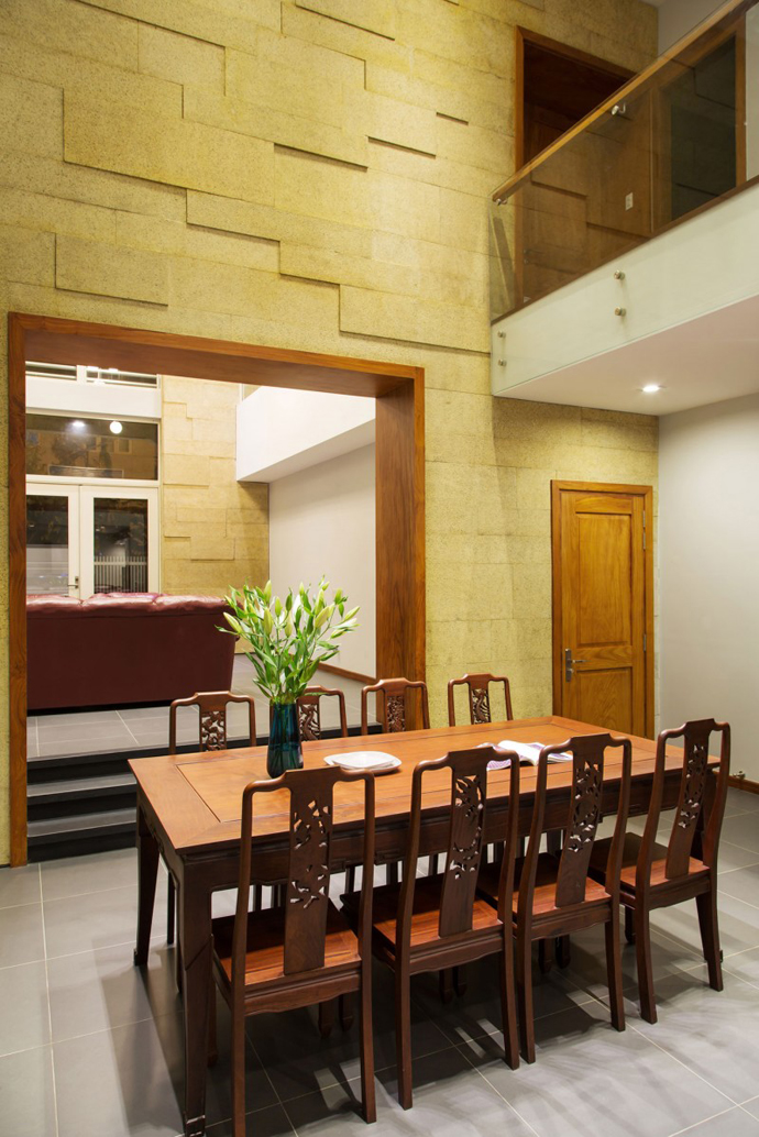 carved dinning chairs F2 Modern Luxurious Villa by Dang Duc Hoa-Block Architects in Vietnam