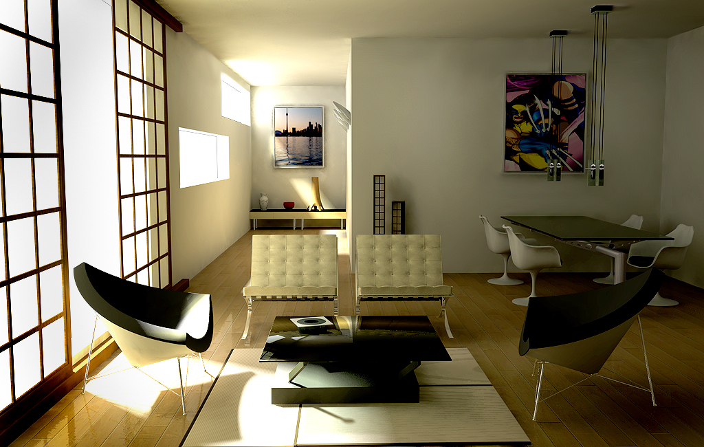 mies van der rohe furniture in Fresh and Sleek Modern Bachelor Pad Ideas Collection Homesthetics