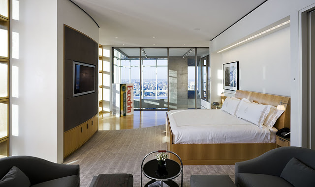 bedroom interior design High End Penthouse-Duplex Apartment On Top Of Bloomberg Tower, Manhattan, New York