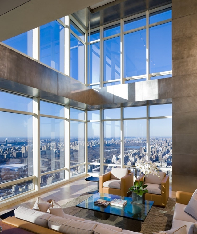 Double Height Floor Living Room Design High End Duplex Apartment On Top Of Bloomberg