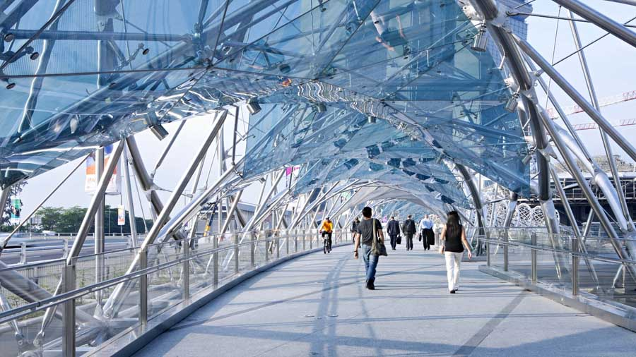 High Tech Architecture - Helix Bridge in Singapore by Cox ...