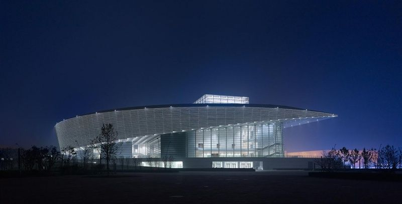 Incredible state of the art cultural building tianjin for State of the art house designs