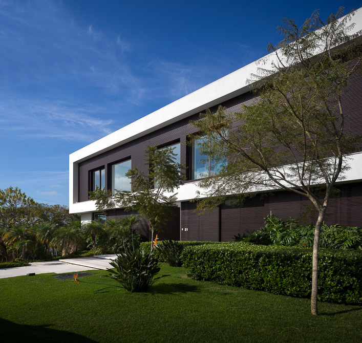 perspective of the Jaragua Residence - Luxurious Modern Mansion in São Paulo, Brazil