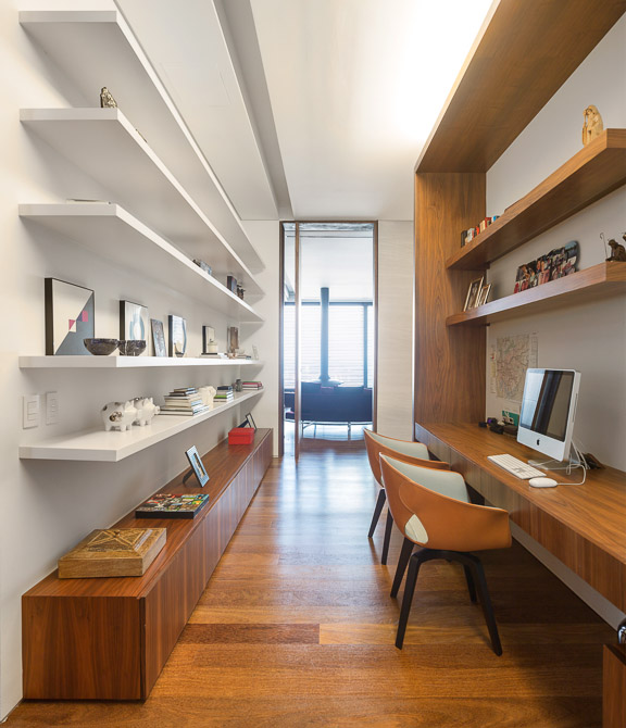 small library design Jaragua Residence - Luxurious Modern Mansion in São Paulo, Brazil