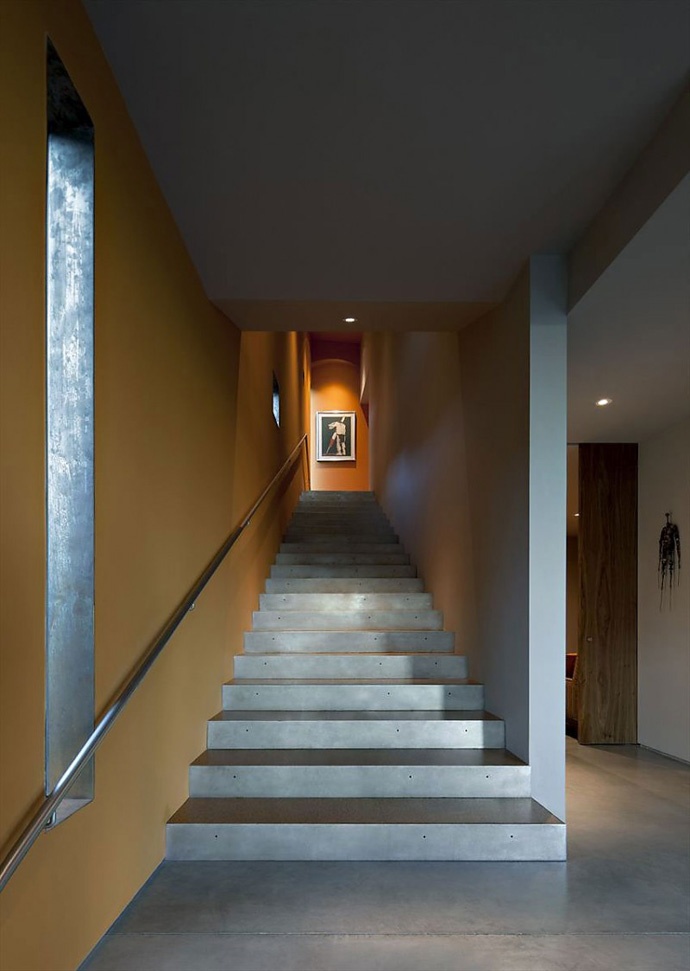 staircase Jarson Residence -Contemporary Modern Mansion by Will Bruder+PARTNERS