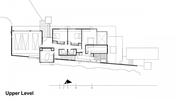 section plane trough Jarson Residence -Contemporary Modern Mansion by Will Bruder+PARTNERS