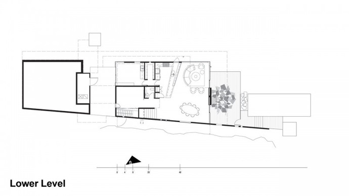 blueprint floor plan section plane Jarson Residence -Contemporary Modern Mansion by Will Bruder+PARTNERS