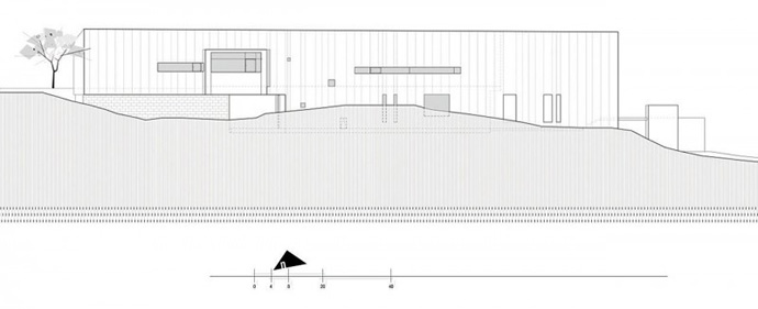 facade section plane Jarson Residence -Contemporary Modern Mansion by Will Bruder+PARTNERS