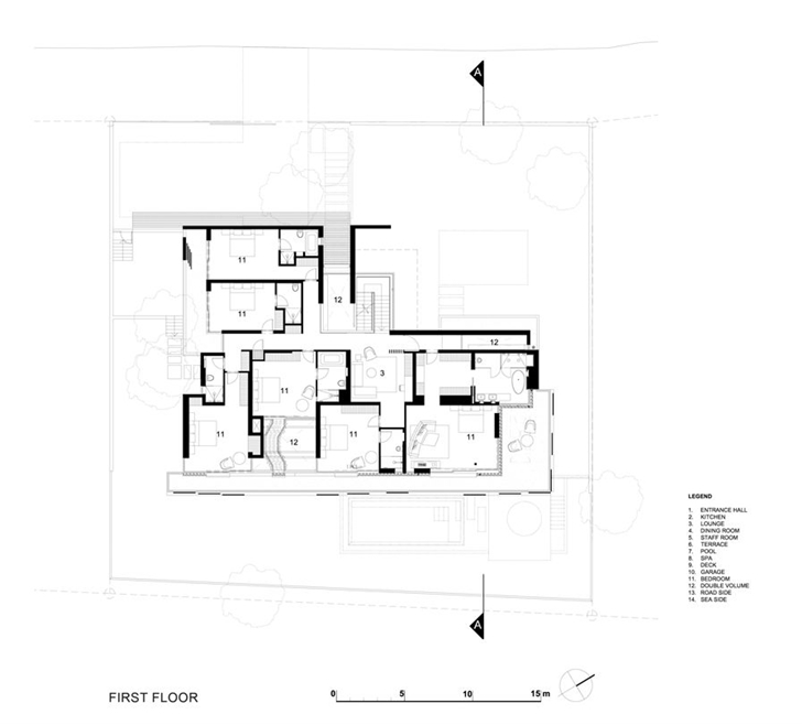 Awesome floor plan blueprint La Lucia Modern African Mansion in Durban
