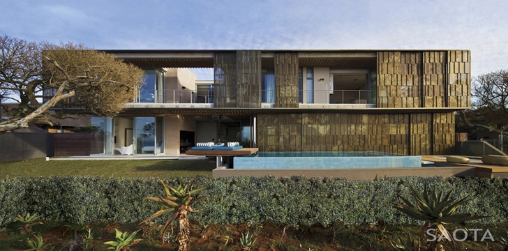 long facade of the La-Lucia-Modern-African-Mansion-in-Durban-South-Africa-Designed-by-SAOTA-homesthetics