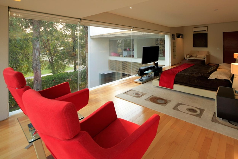 bedroom interior design Luxurious Modern Mansion with Huge Cantilever in Contemporary Style - Godoy House in Mexico