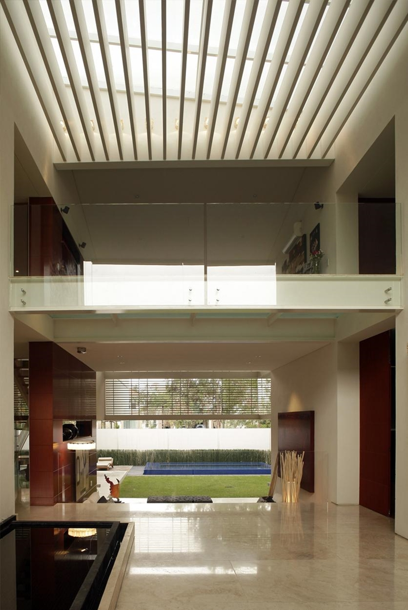 main view Luxurious Modern Mansion with Huge Cantilever in Contemporary Style - Godoy House in Mexico