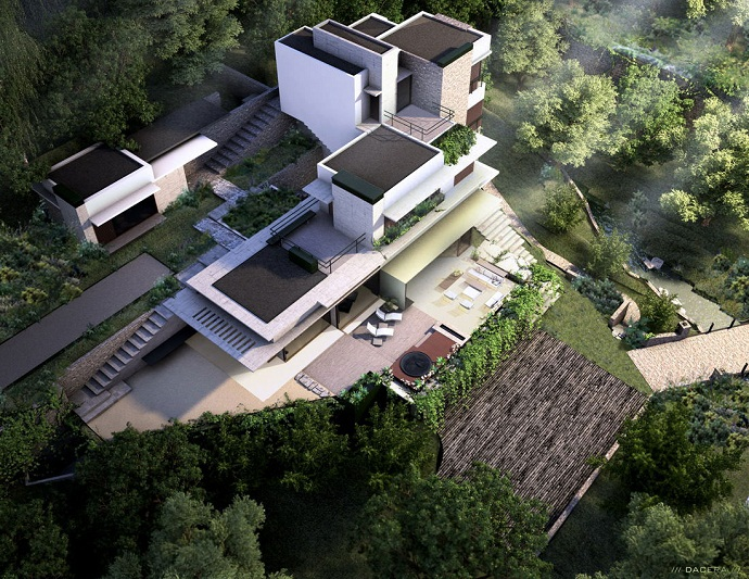 Mz House By Chk Arquitectura Cliff View Modern Mansion In