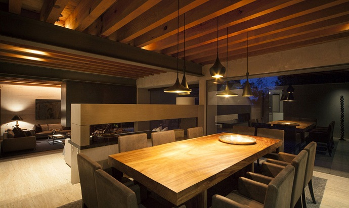 dinning area MZ House by CHK Arquitectura-Modern Mansion in the Green Heaven